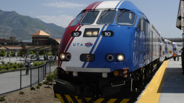 Public transit ridership shot up by 154 million rides in 2012, a study says. In Utah, commuter train ridership increased nearly 15%.
