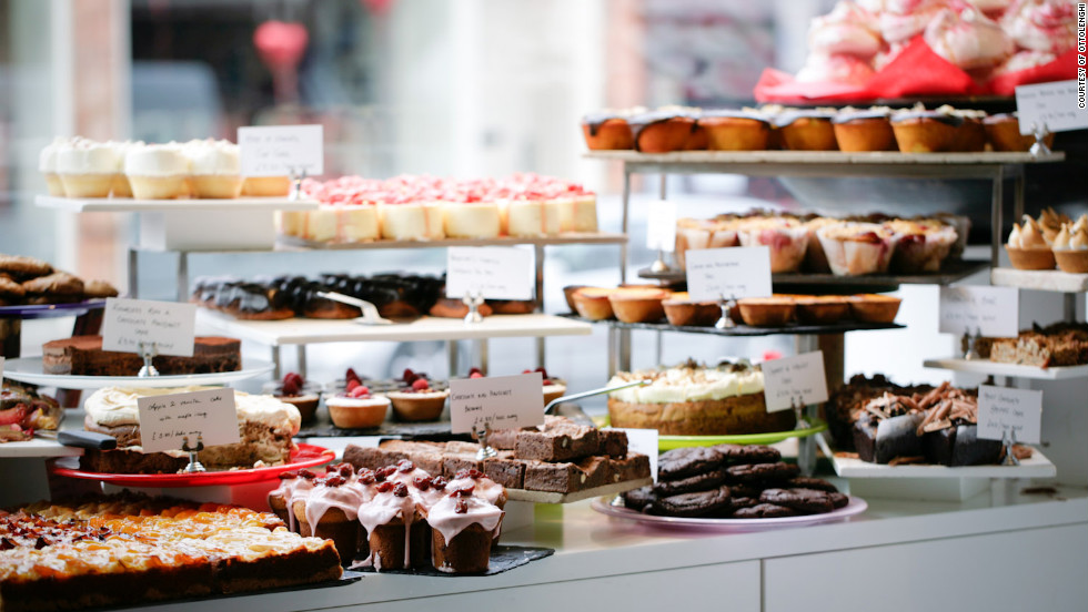 """Follow Islington's beau monde to this high-end Middle Eastern bakery and café, where the tantalizing bread platter (toasted tableside) is a full meal in itself. <a href=""""http://www.ottolenghi.co.uk"""" target=""""_blank"""">ottolenghi.co.uk</a>. $$"""