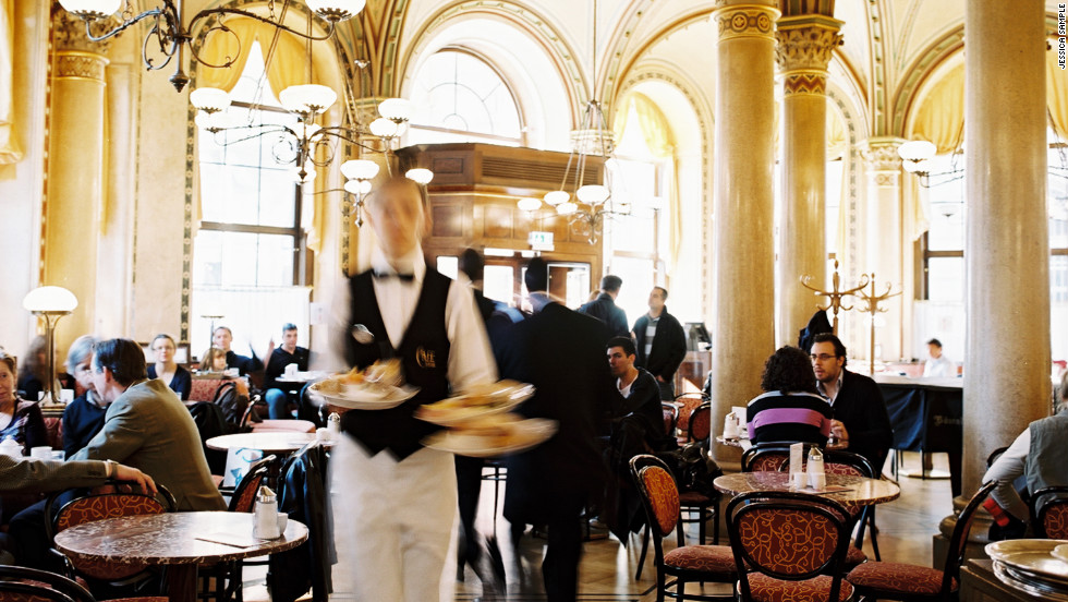 "Though it's welcomed plenty of tourists over its 137 years -- not to mention habitués like Freud, Lenin, and Trotsky -- the utterly <a href=""http://www.travelandleisure.com/restaurants/cafe-central-vienna"" target=""_blank"">grand café</a> inside the majestic Palais Ferstel is known among pastry-obsessed Wieners for serving the best, flakiest strudel in town. $$. <a href=""http://www.travelandleisure.com/articles/best-breakfasts-around-the-world/12"" target=""_blank"">See more of the world's best breakfasts</a>"
