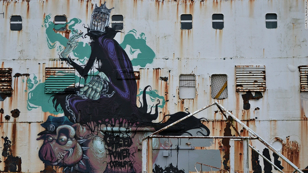 "The project was launched by arts collective <a href=""http://www.dudug.co.uk/"" target=""_blank"">DuDug</a> -- a word play on the Welsh for ""black duke."" Hungarian artist Mr Zero, created this piece, called ""The Prophet of Profit."" <br /><br />""At first some people weren't so keen on the artwork and saw it very doggedly as 'illegal graffiti' in the negative sense of the word. However, many now realize that the Duke has been given a new purpose and a new lease of life,"" DuDug organiser Maurice Blunt, said."