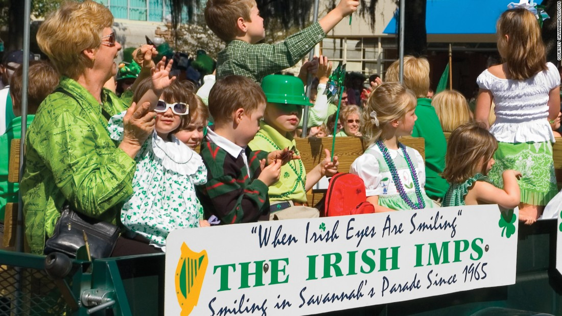 Visitors are expected to crowd the streets of Savannah, Georgia, for its 192th annual St. Patrick's Day Parade.