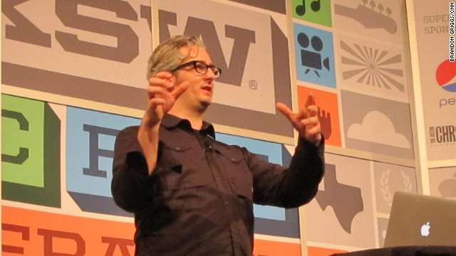 MakerBot CEO Bre Pettis speaks Friday at the South by Southwest Interactive festival in Austin, Texas.
