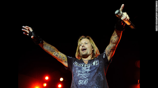 Vince Neil performs in Las Vegas in 2010. The 52-year-old Motley Crue singer was kept overnight at a hospital in Australia.