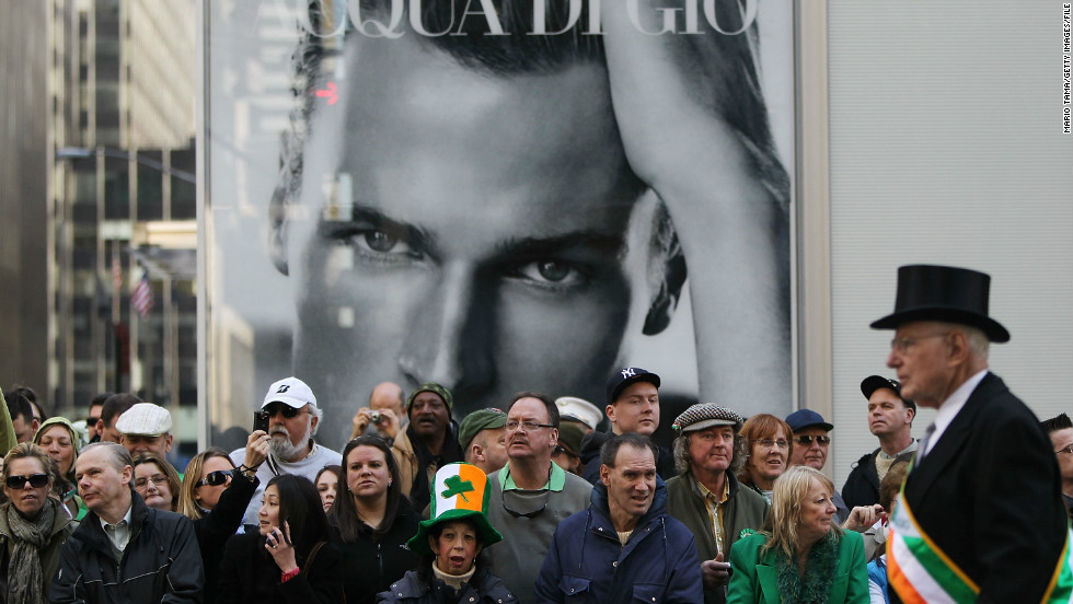 Parade-goers attend the annual St. Patrick's Day Parade in New York.