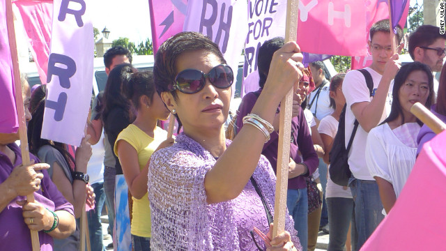 Philippine feminist leader Elizabeth Angsioco pushed for passage of Reproductive Health bill, which passed Dec. 2012.