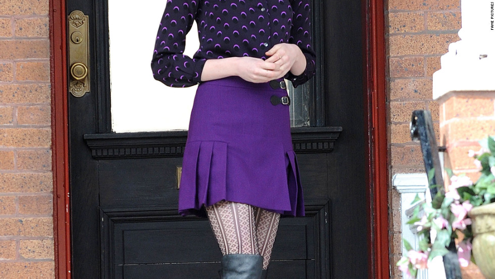 "Emma Stone films a scene for ""The Amazing Spider-man 2"" in Brooklyn."