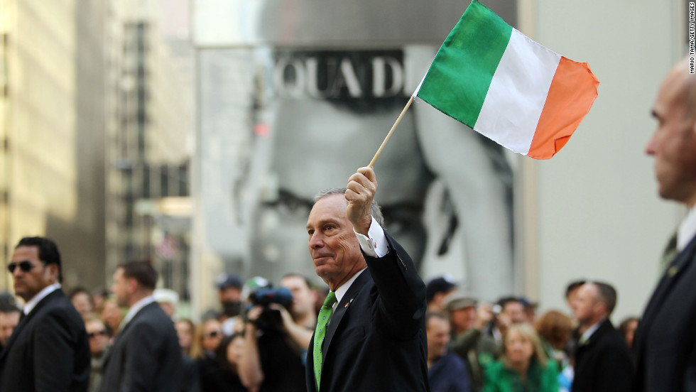 Bloomberg marches in the 249th annual St. Patrick's Day Parade in March 2010.