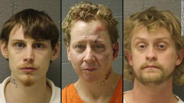 Kade Reaves Stringfellow, left, Rodney Joe Green, center, Matthew Brandon Cook, right.
