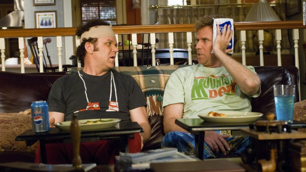 """After making audiences laugh as NASCAR drivers in 2006's """"Talladega Nights,"""" Will Ferrell,  right, and John C. Reilly joined forces for another Adam McKay-directed comedy, 2008's """"Step Brothers."""""""
