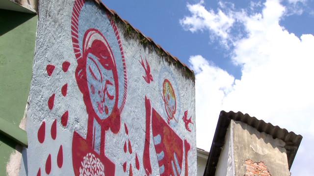 Graffiti art comes to life in Sao Paulo