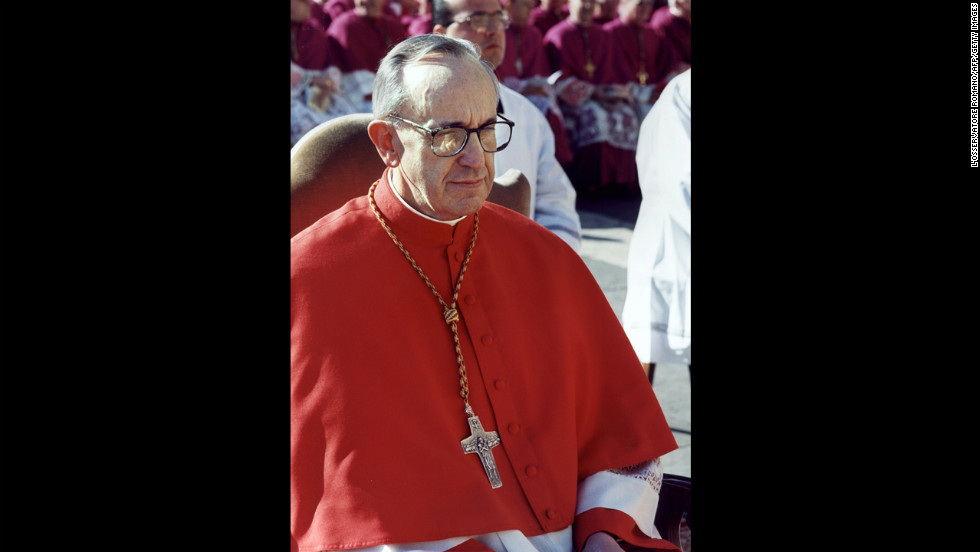 Then-Archbishop of Buenos Aires Bergoglio is seen in Vatican City in this undated photo. He's the first non-European pope in the modern era and the first South American pope.