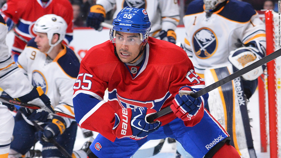 Francis Bouillon -- The hockey player is a veteran defenseman for the NHL's Montreal Canadiens.