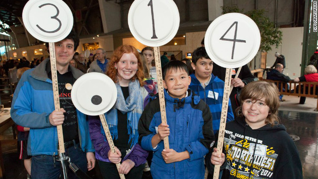 The Exploratorium in San Francisco holds an annual Pi Procession of pi's digits.