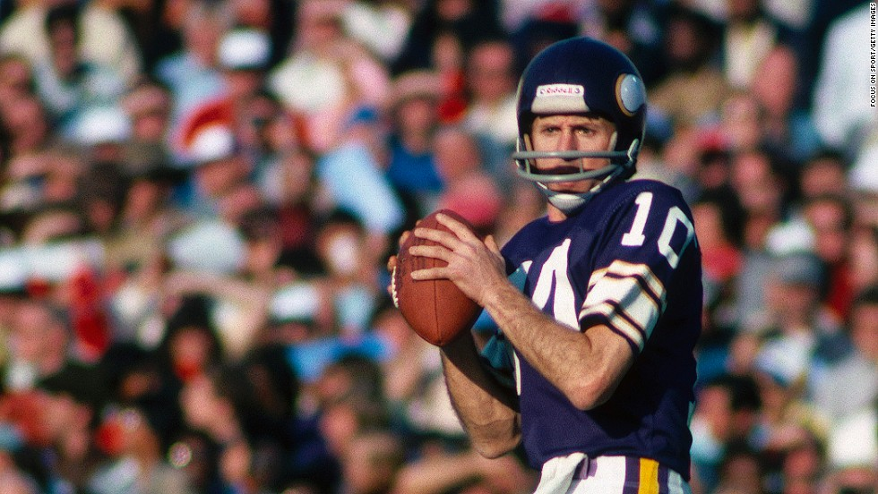 """Francis """"Fran"""" Tarkenton -- The Hall of Fame quarterback was known for his scrambling and pass yardage during a lengthy career with the New York Giants and Minnesota Vikings."""
