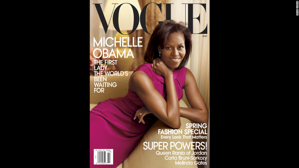 Obama was first on the cover of Vogue in March 2009.