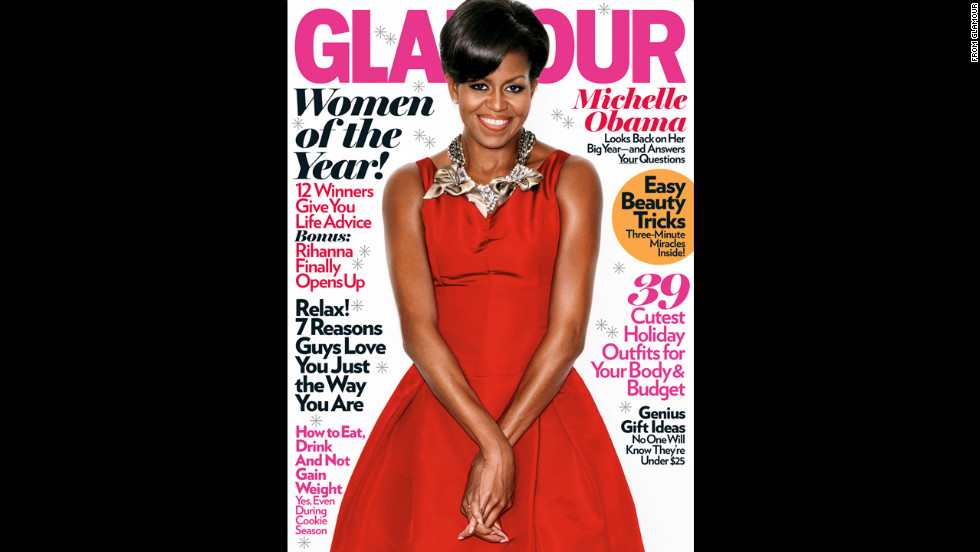 Obama on the cover of Glamour.