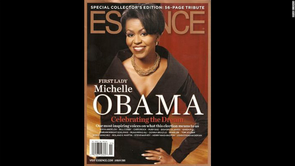 Obama on the cover of Essence.