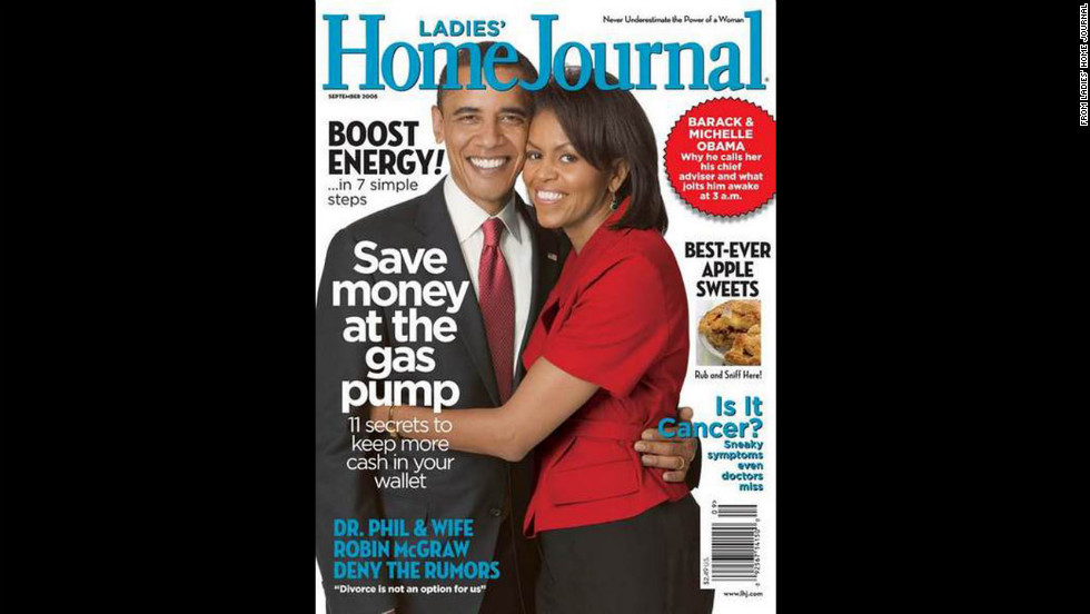 Obama and the president on the cover of Ladies' Home Journal.