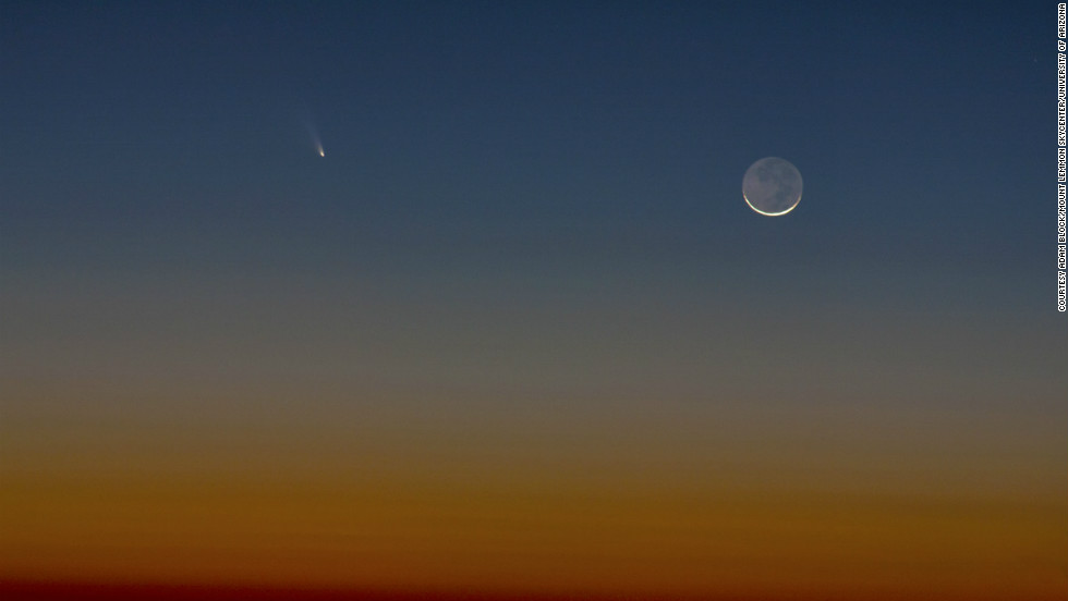 Adam Block shot this photo of Comet Pan-STARRS from the top of Mount Lemmon in Arizona. Block marveled at the twilight sky and its beautiful colors.