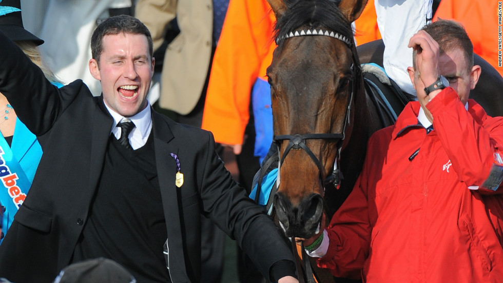 The luck of the Irish was certainly on stable boy Conor Murphy's side when he won $1.5 million at last year's Cheltenham Festival. The 29-year-old from Cork placed $75 on famous trainer Nicky Henderson's (right) five horses, winning in an accumulator bet.