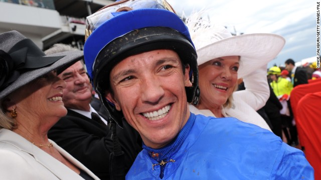 Frankie Dettori smiling after he rode in his last Emirates Melbourne Cup during 2012 Melbourne Cup Day at Flemington Racecourse on November 6, 2012 in Melbourne, Australia.