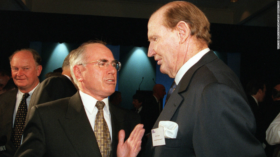 Australian media mogul Kerry Packer, pictured here chatting to former Prime Minister John Howard, was a towering figure -- both in statue and business. The billionaire was an infamous gambler who as a young man reportedly lost $10,000 to illegal operators and had to be bailed out by his influential father, Frank Packer.