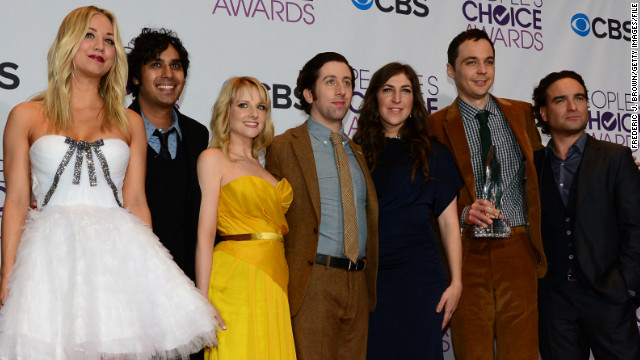 """The Big Bang Theory"" cast attends the People's Choice Awards on January 9, 2013."