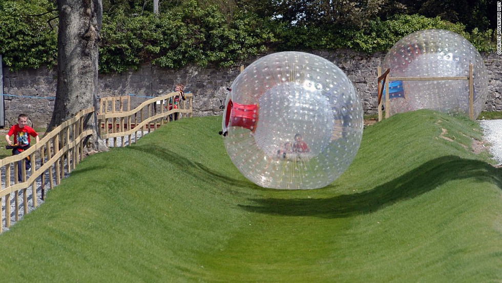 For another brand of thrill, consider tumbling down Adventure West's zorbing track in Westport, County Mayo.