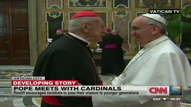 Pope to cardinals: Pass wisdom to young