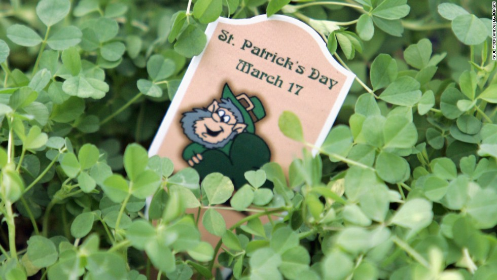 "St. Patrick is said to have used a three-leaf clover to <a href=""http://www.cnn.com/2012/03/17/world/europe/saint-patrick-study"">explain the Holy Trinity</a> to the pagans of Ireland. The shamrock has been associated with St. Patrick and Ireland since the mid-5th century."
