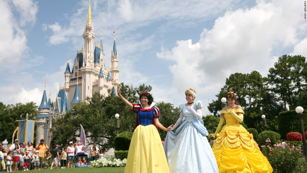 Disney's Magic Kingdom theme park in Florida came in first place in FamilyFun's top amusement parks category.  Guests can expect to meet Disney princesses such as Snow White, Cinderella and Belle at Disney theme parks, resorts and certain restaurants.
