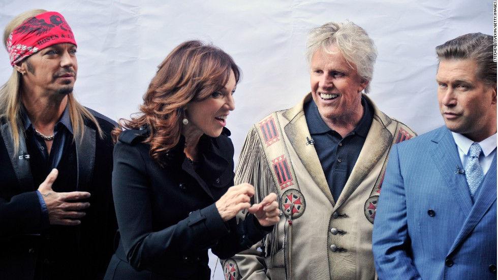 "From left, Michaels, actress Marilu Henner, actor Gary Busey and actor Stephen Baldwin attend the ""Celebrity Apprentice All Stars"" Season 13 Bus Tour in October 2012 in New York."