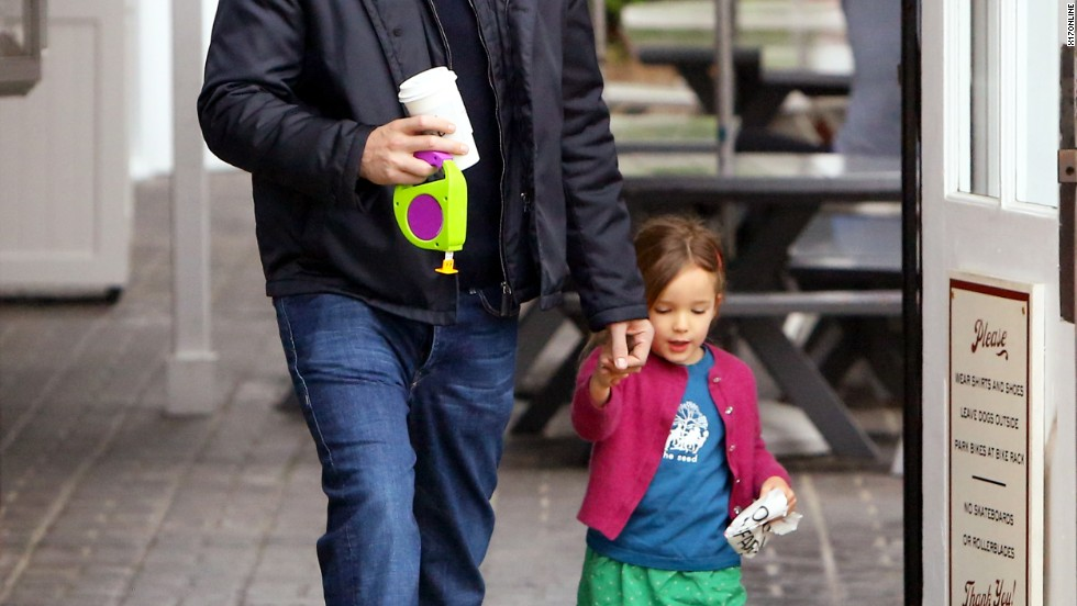 Ben Affleck spends time with his daughter.
