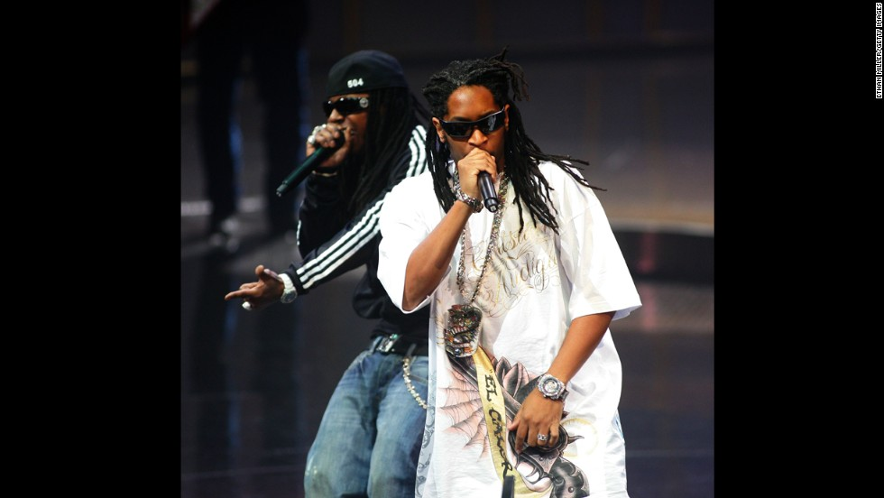 Rappers Lil Wayne, left, and Lil Jon perform during the seventh annual BMI Urban Awards held at the New York-New York Hotel and Casino on September 7, 2007, in Las Vegas.