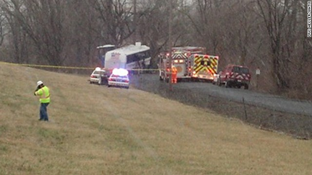 Lacrosse team bus crashes in PA