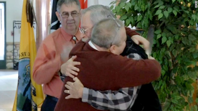 The couple married the same day the tribe began recognizing same-sex marriages.