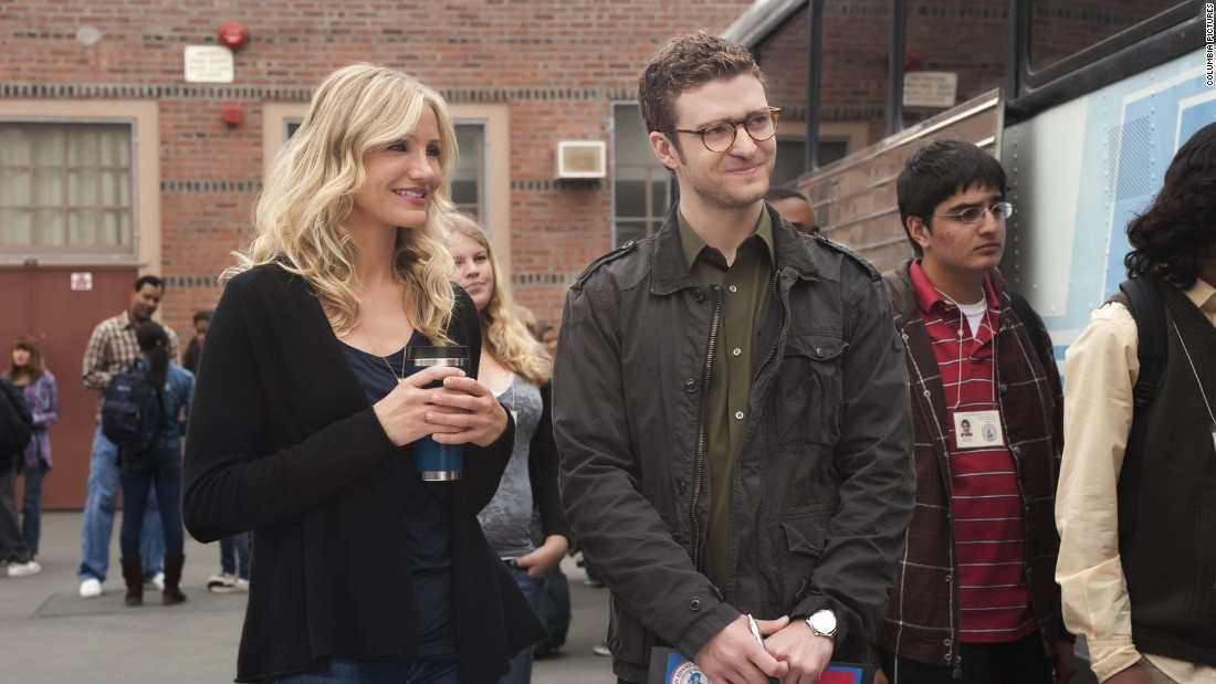 "Timberlake and Diaz put their breakup behind them to co-star in 2011's ""Bad Teacher."""