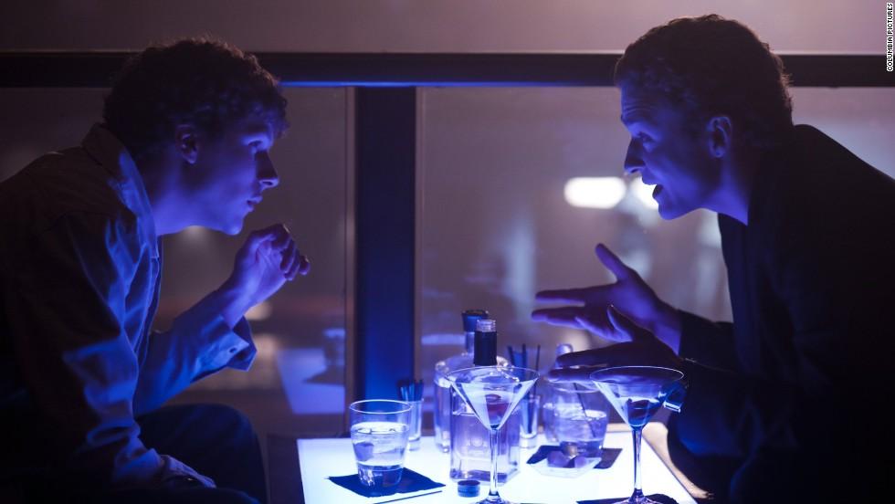"Timberlake plays Sean Parker to Jesse Eisenberg's Mark Zuckerberg in 2010's ""The Social Network."""