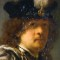 Rembrandt self-portrait Buckland Abbey