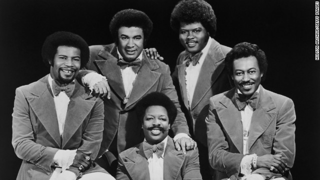 The Spinners in 1977. Clockwise, from left: Pervis Jackson, Billy Henderson, Jonathan Edwards, Bobbie Smith and Henry Fambrough.