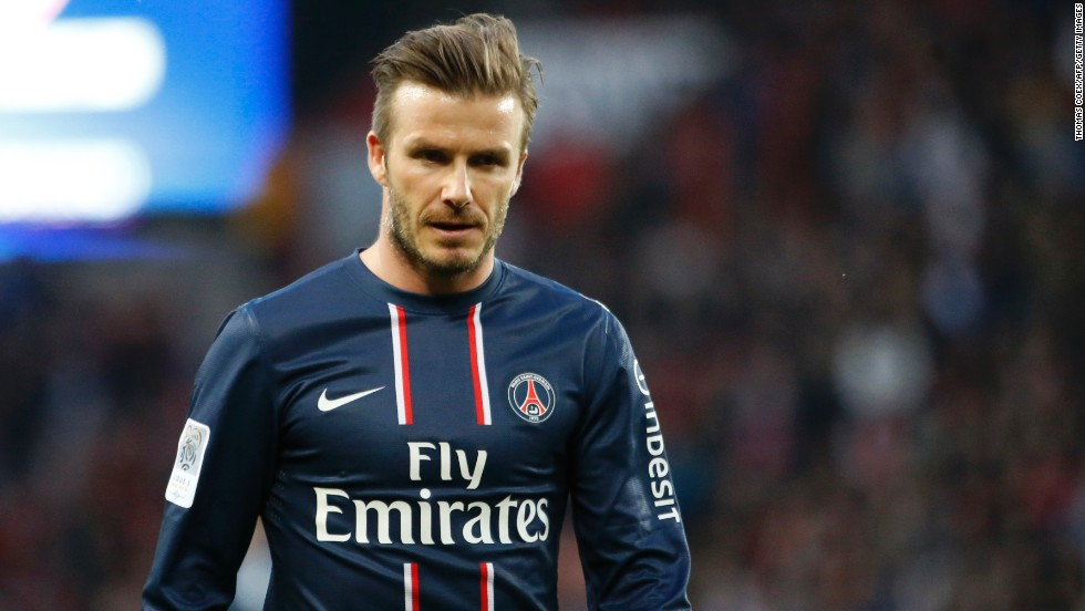 David Beckham has topped the list of the world's highest-paid footballers compiled by prestigious France Football magazine. The veteran midfielder, who signed a five-month contract with French club Paris Saint-Germain in January, is set to earn $46.5 million during the 2012-13 season. Beckham is donating his salary, which is said to account for 5% of his earnings, to a children's charity.