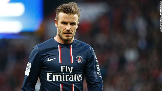 What does David Beckham give to PSG?