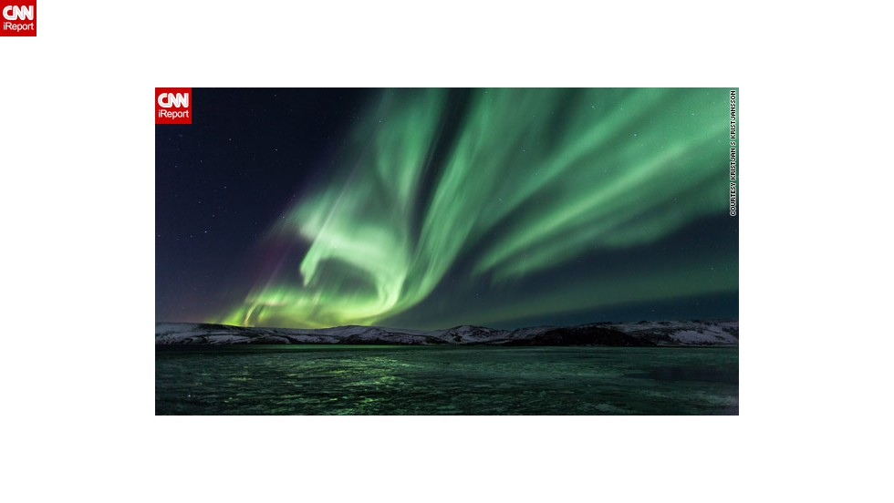 "Iceland, due to its northern location, dark winters and lack of light pollution, is perfectly equipped to see the best of the northern lights, as shown in this <a href=""http://ireport.cnn.com/docs/DOC-943513"">stunning photo</a> by Kristjan S Kristjansson, shot from Lake Kleifarvatn on the Reykjanes Peninsula."