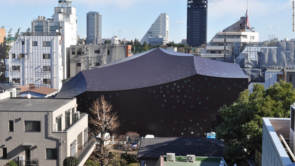 Ito opted for a closed space built of steel-plate reinforced concrete when designing this public theater. The design allows the walls and ceiling to remain thin while providing optimal acoustics. The auditorium space allows for various stage and seating configurations. The building was completed in 2008.