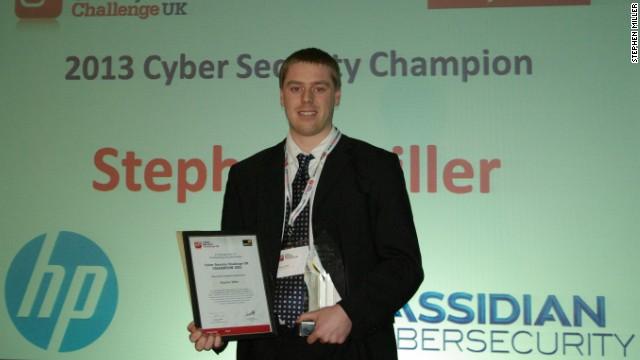 Stephen Miller winning the 2013 Cyber Security Challenge
