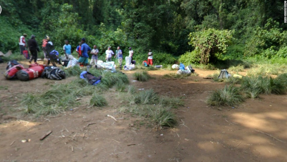 A resting spot along the popular Lemosho Trail, which many mountaineers use to climb Tanzania's 19,341-foot Mount Kilimanjaro, the highest point in Africa.
