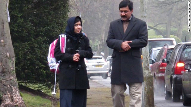 Malala's 'happiest moment' back in school