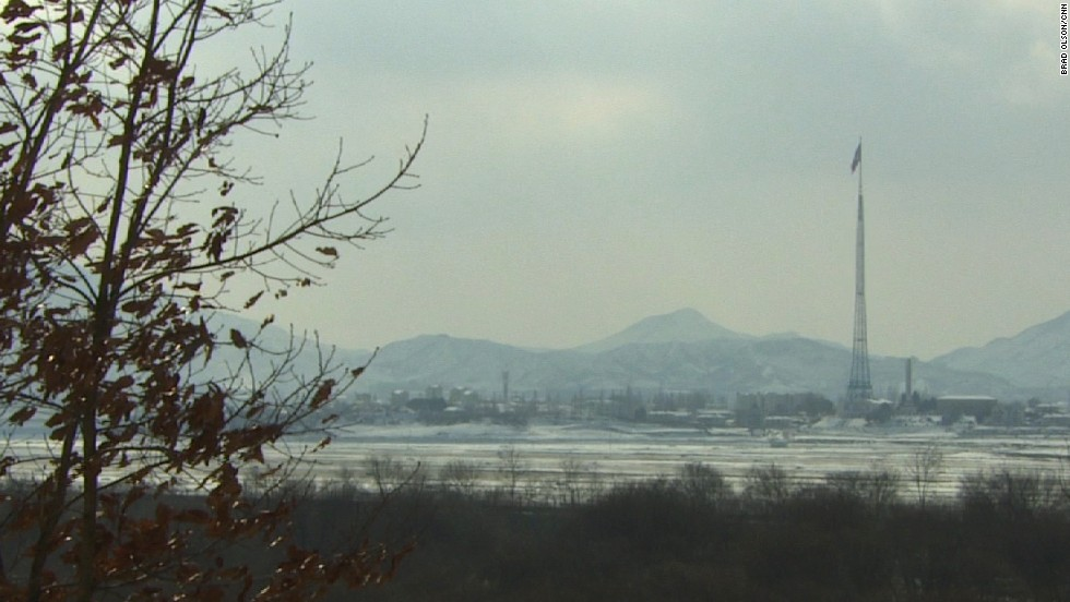 "The village of Kijongdong is located on the North's side of the DMZ. South Korean troops refer to it as a ""Propaganda Village,"" as they believe it is largely uninhabited and just for show."