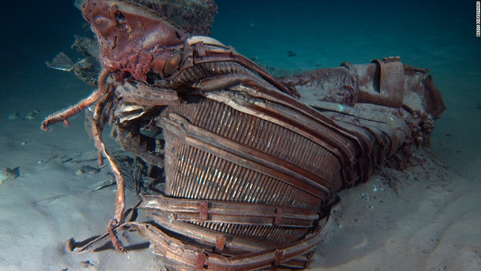"This is a nozzle. ""We've seen an underwater wonderland -- an incredible sculpture garden of twisted F-1 engines that tells the story of a fiery and violent end, one that serves testament to the Apollo program,"" Bezos said on his website."