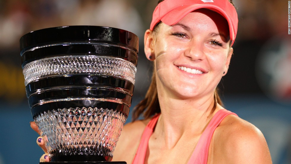 Agnieszka, 24, won the last of her 12 WTA titles in Australia earlier this year, at January's Sydney International.